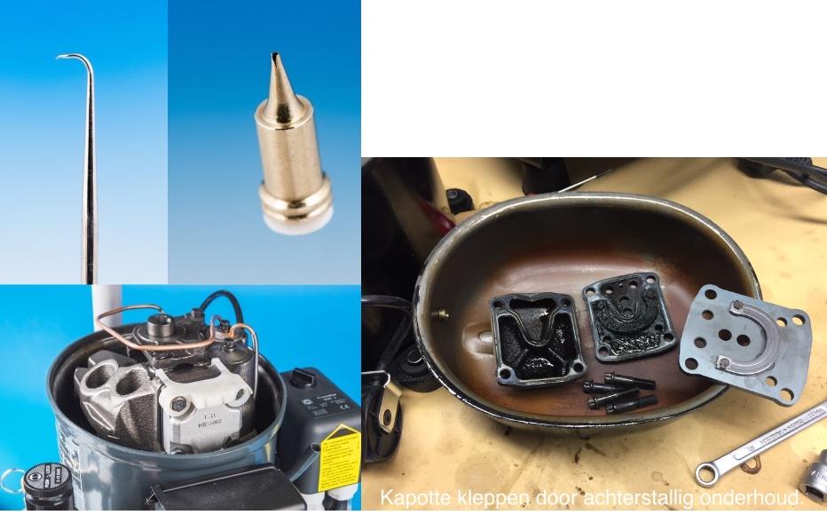 Service - Reparatie Airbrushmateriaal