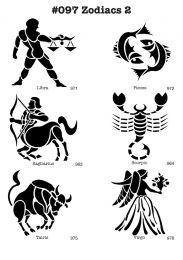 Tattoo stencil Set Sterrenbeelden 2