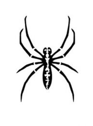 Tattoostencil ASA Spider