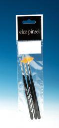 Elco Micro Penseelset 3 stuks Waaier / Rond
