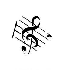 Tattoostencil ASA Music