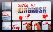 H & S Freehand Sjabloon Blood Splash 410146