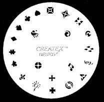 Nagelsjabloon Createx 262705