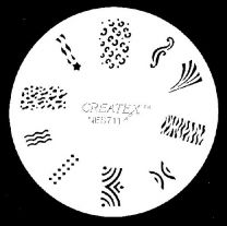 Nagelsjabloon Createx 262711
