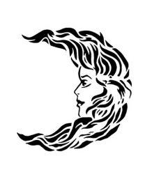 Tattoostencil ASA Moonface