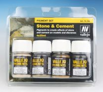 Vallejo Pigment Set Stone and Cement 73.192