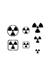 Vallejo Hobby Stencils: Radioactivity Signs (several scales)