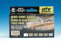Vallejo AFV WWII USMC Colors Green & Grey Patterns 1942-1945