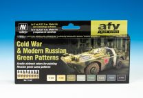 Vallejo Model Air Verfset Cold War & Modern Russian Green Patterns. 71.621