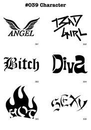 Tattoo Stencil Set Character