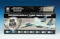 """Vallejo Model Air verfset Soviet / Russian Colors Su-27 """"Flanker"""" From 80's to Present 71.602"""