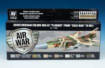 """Vallejo Model Air verf set Soviet / Russian Colors MiG-23 """"Flogger"""" From -Cold War- to 90's 71.606"""
