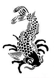Tattoostencil ASA Koi
