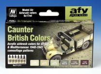Vallejo AFV Caunter British Colors 71.211