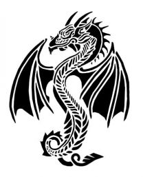 Tattoostencil ASA Dragon