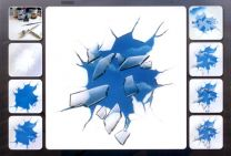 H & S Freehand Sjabloon Broken Glass 410116