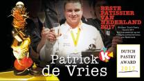 Patrick de Vries wint Dutch Pastry Award 2017