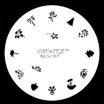 Nagelsjabloon Createx 262719