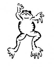 Tattoostencil ASA Frog