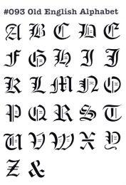Sjabloon English Alphabet 093