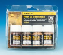Vallejo Pigment Set Rust and Corrosion 73.194