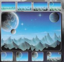 H & S Freehand Sjabloon Space Landscape 410140