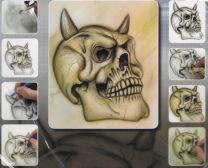 H & S Freehand Sjabloon Skull Set 410135