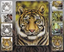 H & S Freehand Sjabloon Tiger Wildlife 410130