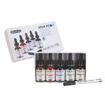 Schmincke Aqua Drops Set 7810 5  kleuren met Liner