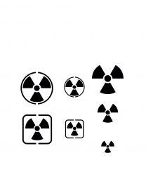 Vallejo Hobby Stencils: Radioactivity Signs (several scales)