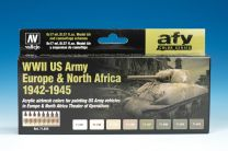 Vallejo AFV WWII US Army Europe & North Africa 1942-1945