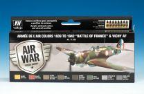 """Vallejo Model Air verfset Armée de l'air colors 1939 to 1942 """"battle of France"""" & Vichy AF. 71.626"""