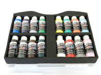Createx Verfkoffer met 16 dekkende / opaque kleuren