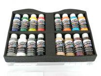 Createx Verfkoffer met 16 Transparante kleuren