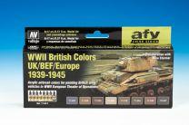 Vallejo Model Air Verfset 71.614 WWII British Colors UK/BEF/Europe '39-45  71.614
