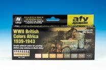 Vallejo Model Air verfset WWII British Colors Africa 39 - 43   71.622